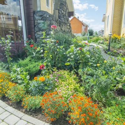 Приусадебный участок «Сад с зеленой крышей»